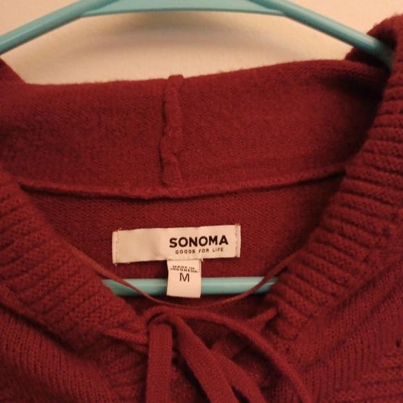 Sonoma Dark Red Sweater - M